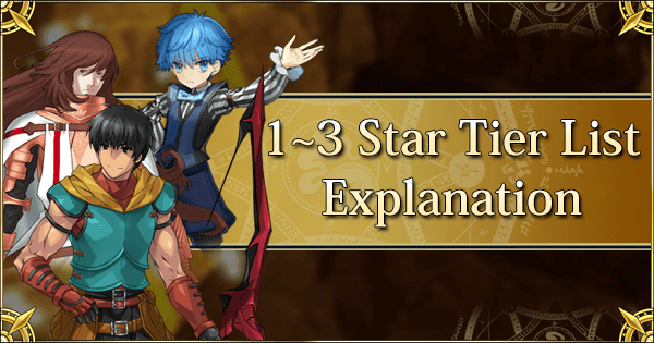 1~3 Star Tier List Explanation