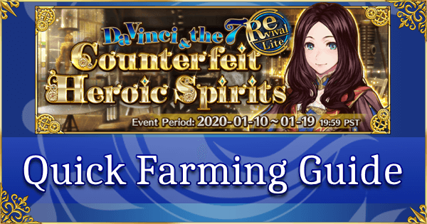 Revival: Da Vinci Event - Quick Farming Guide