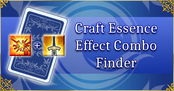 Craft Essence Effect Combo Finder