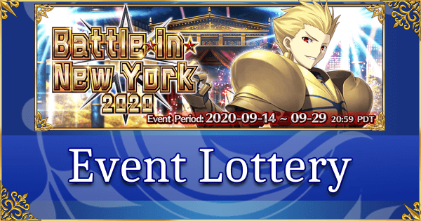 Battle in New York 2020 - Event Lottery