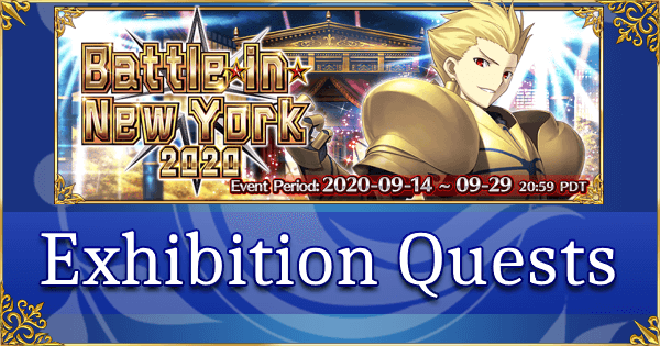 Battle in New York 2020 - Exhibition Quests