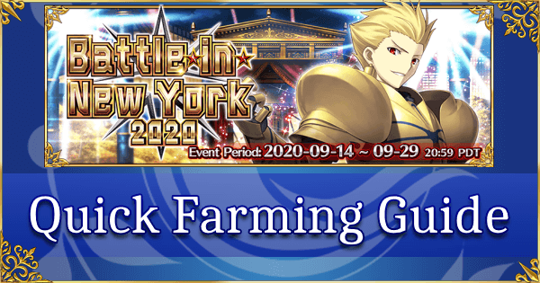 Battle in New York 2020 - Quick Farming Guide