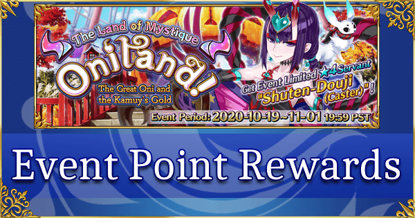 Oniland Halloween 2020 - Point Rewards