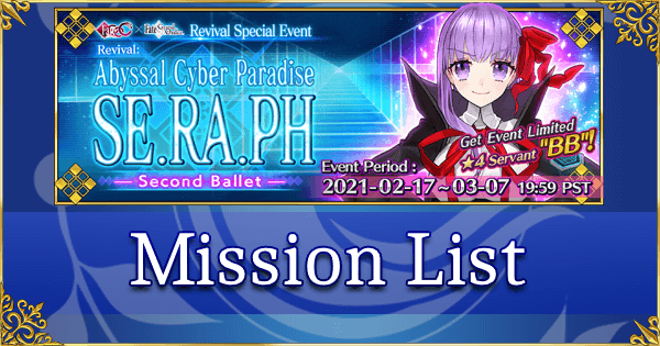 Revival: SE.RA.PH - Mission List