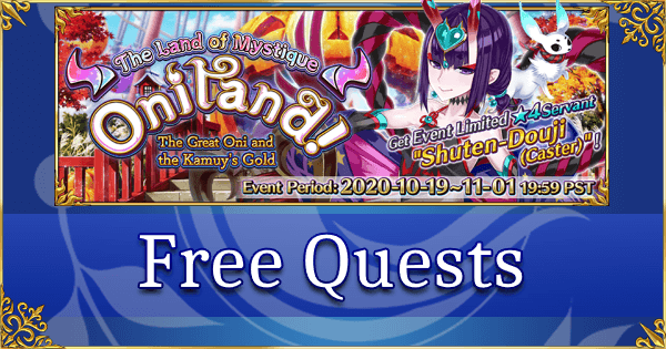 Oniland Halloween 2020 - Free Quests