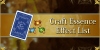 Craft Essence Effect List