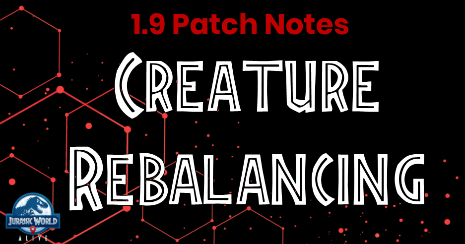 JWA 1 9 Patch Notes: Creature Rebalancing | Jurassic World