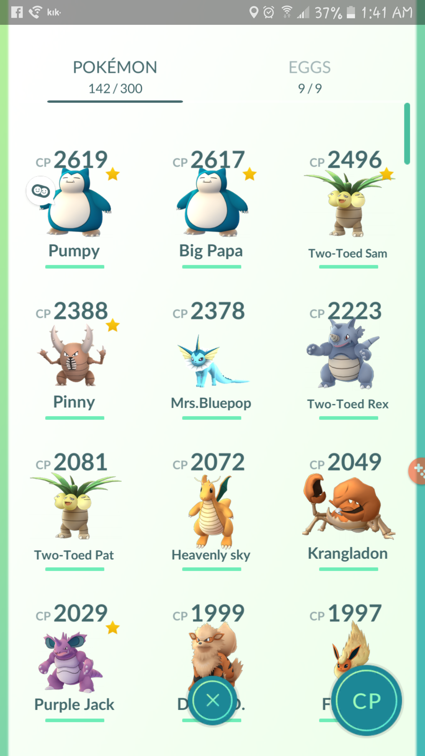 how to change the nickname in pokemon go