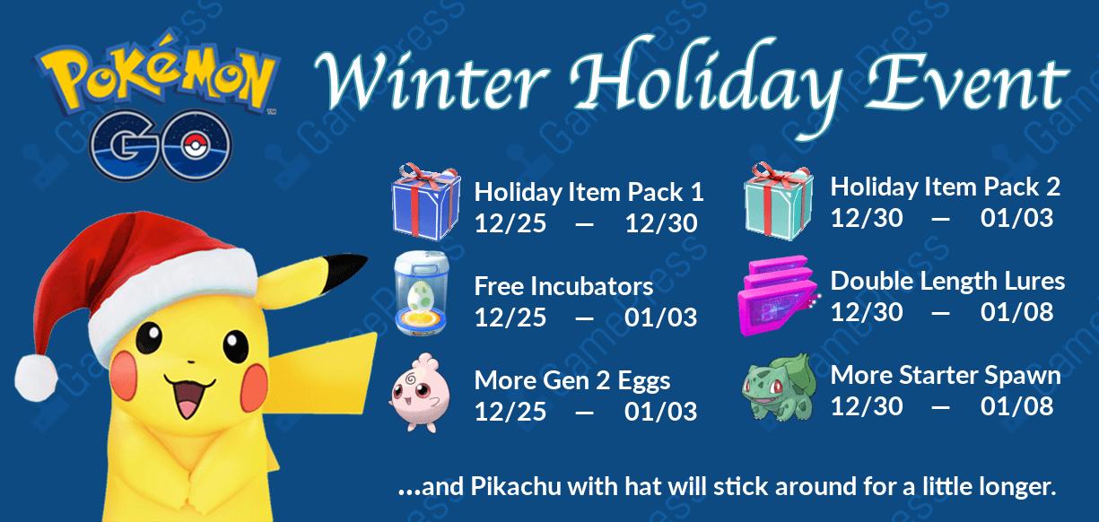 Pokemon Go Christmas Event 2020 Winter Holiday Event Guide LEGACY | Pokemon GO Wiki   GamePress