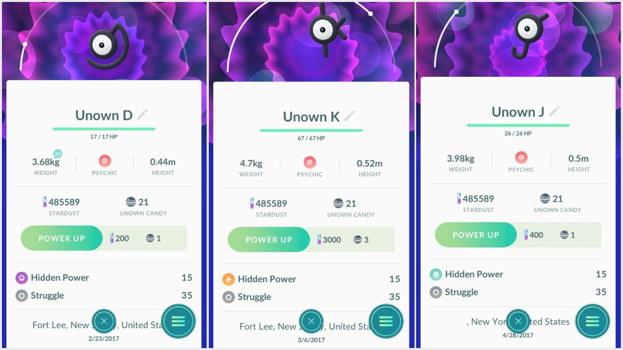 Spawn rate for Unown? | Pokemon GO Wiki - GamePress