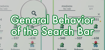 General Behavior of the Search Bar