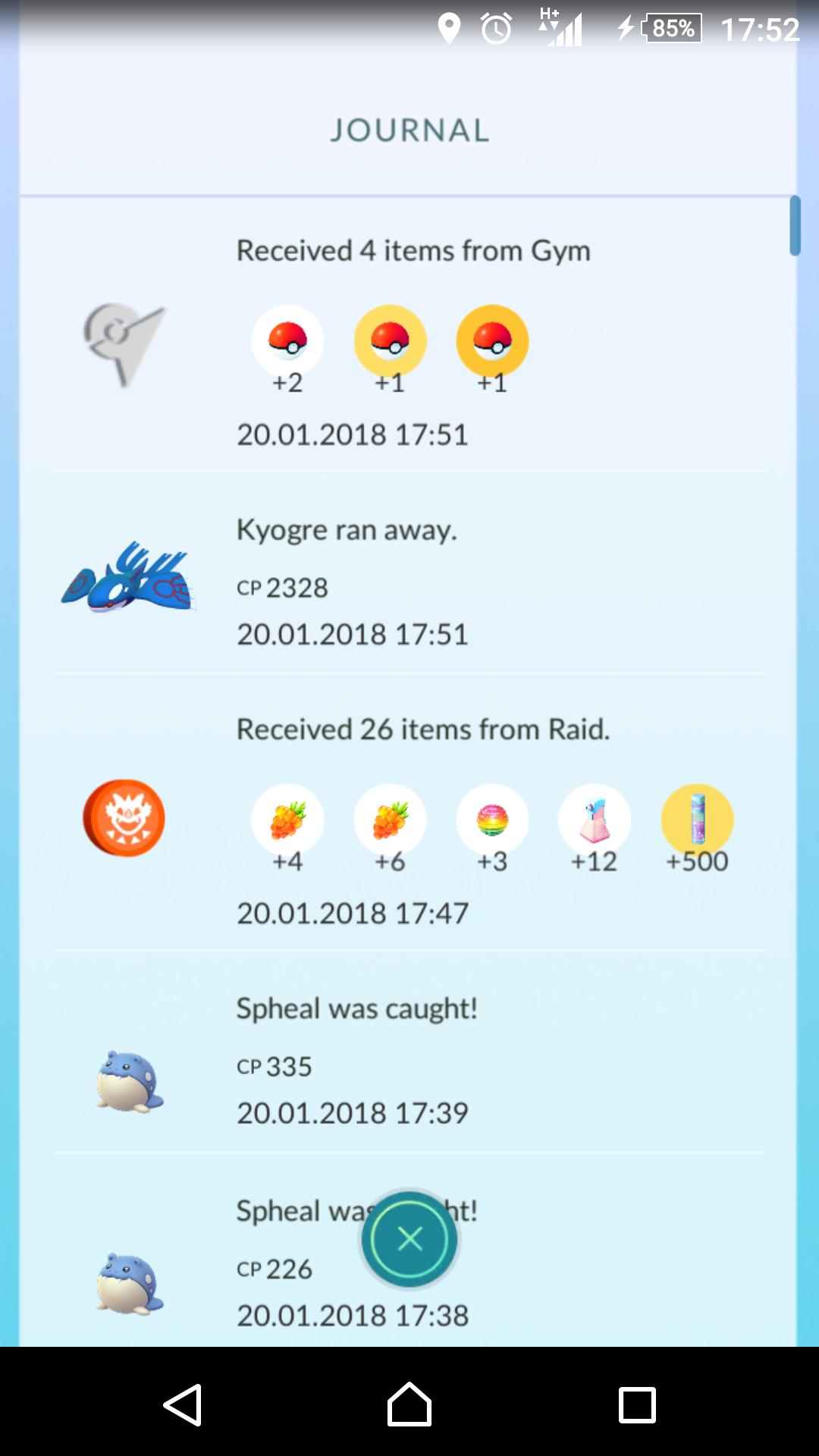 I had a 2328CP Kyogre ran away today     | Pokemon GO Wiki