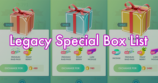 Christmas Event Pokemon Go 2019 Legacy Special Box List | Pokemon GO Wiki   GamePress