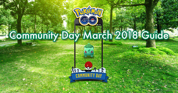 Community Day March 2018 Guide