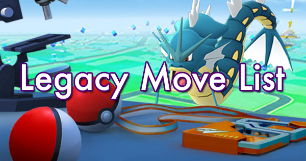 Legacy Pokemon Move List