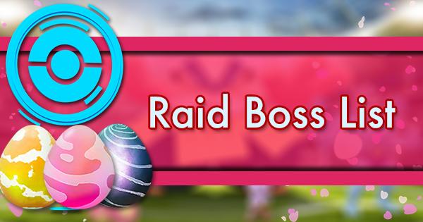 Pokemon Go Tier List 2020.Raid Boss List Pokemon Go Wiki Gamepress