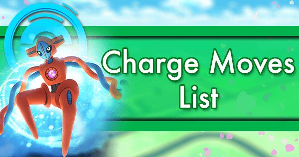 PvP Charge Moves | Pokemon GO Wiki - GamePress