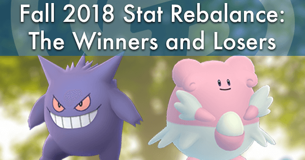 Fall 2018 Stat Rebalance: The Winners and Losers