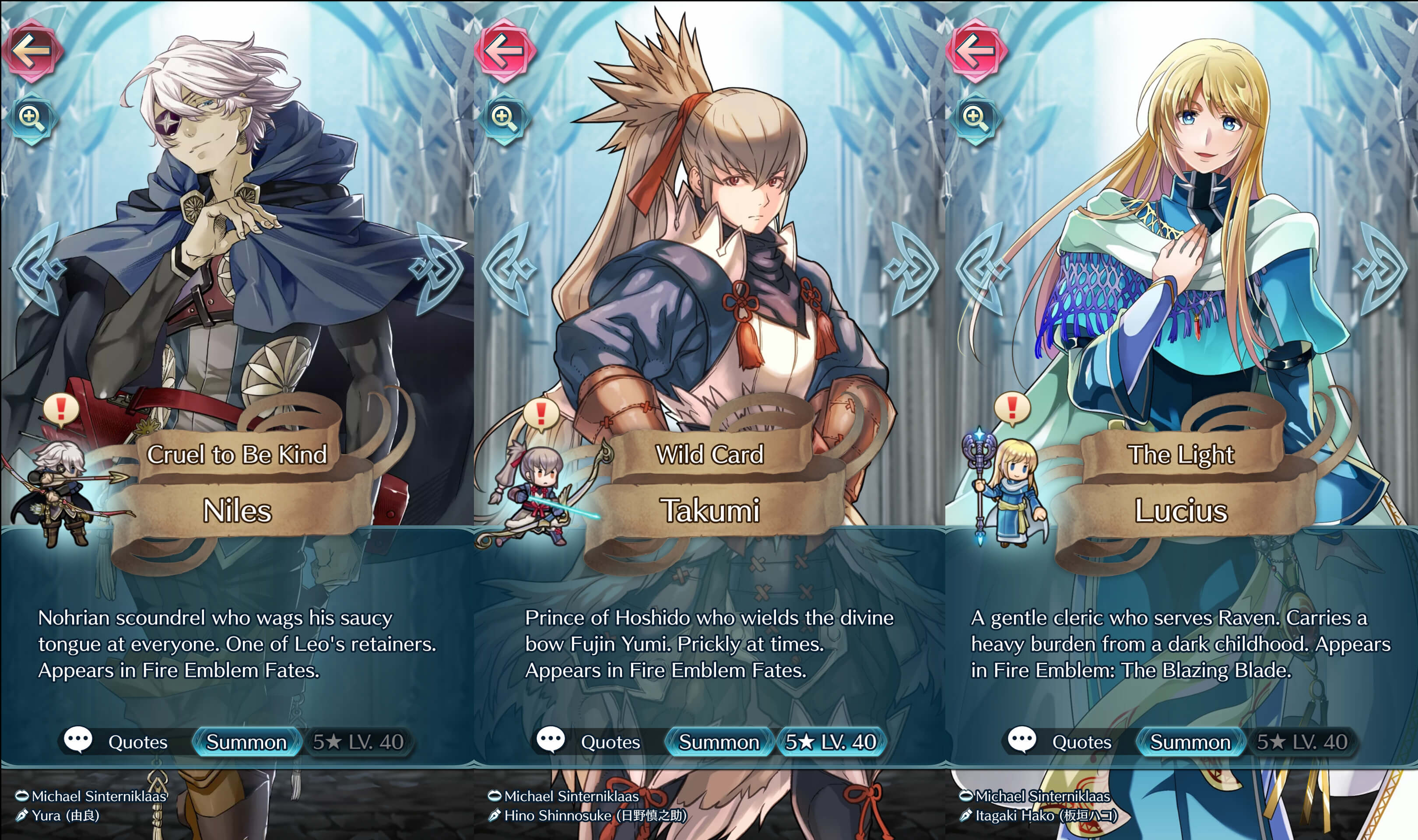 michael sinterniklaas interview fire emblem heroes your name and