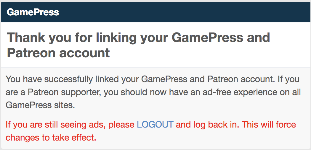 How to Link GamePress Account to Patreon | GamePress