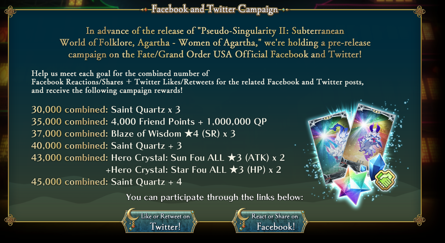 Women of Agartha Event Announced for Fate/Grand Order June