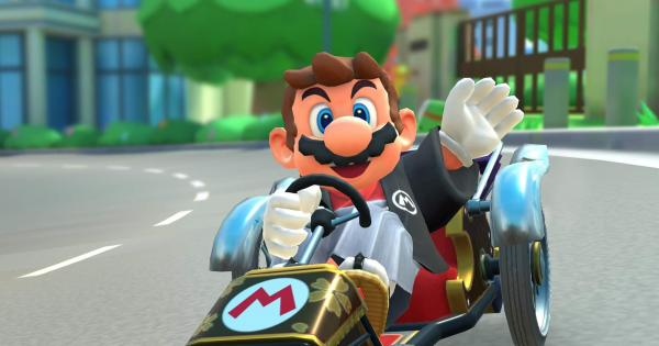 Mario (Hakama) riding Quickshaw kart
