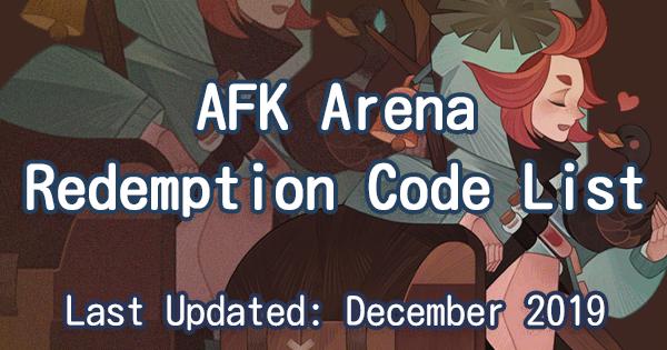 Arena code Afk