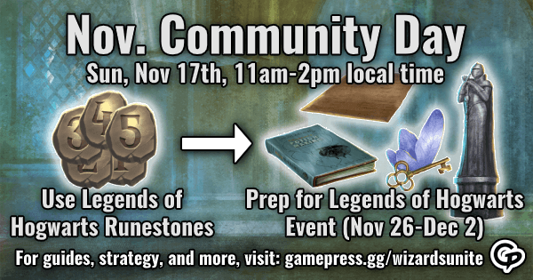 November Community Day Infographic