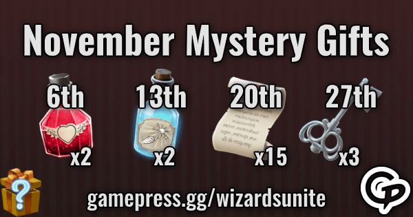 November Mystery Gifts