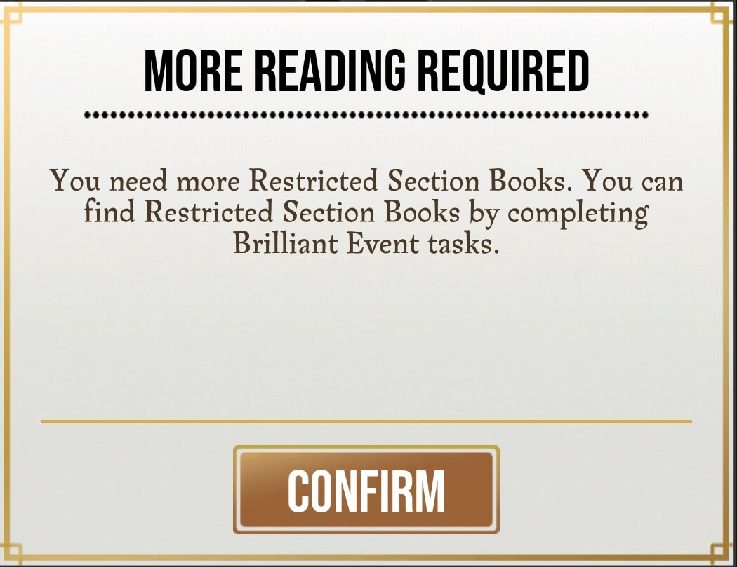 Restricted Spell Book requirement