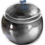 A silver pot filled with juice.