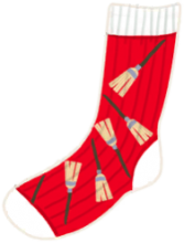 Red Sock with Brooms