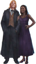 Fred and Angelina in their Yule Ball outfits.